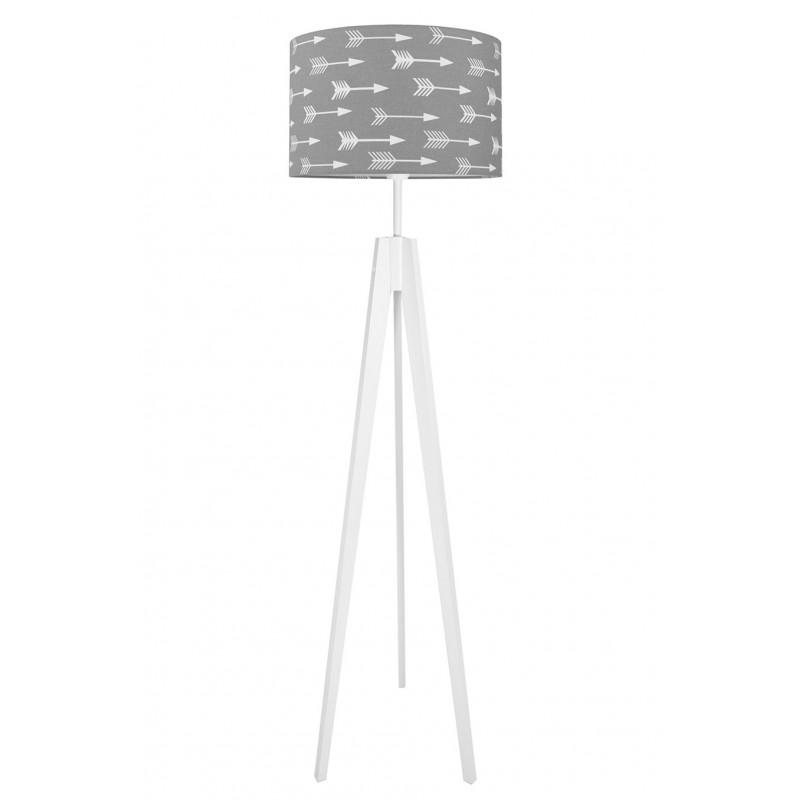 WHITE ARROWS ON GREY Floor Lamp