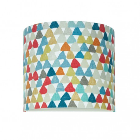 Colored triangles wall lamp