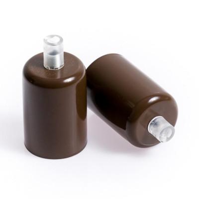Oprawka metalowa E27 lakierowana w kolorze brązowym