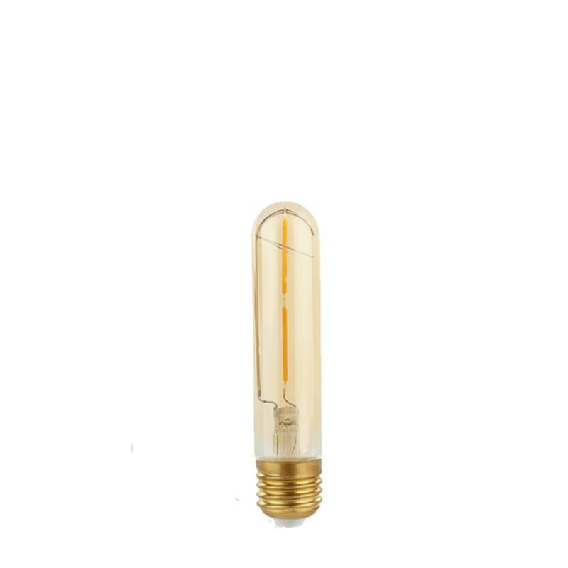 Decorative eco Gold Retro Shine LED TUBE T30 light bulb 30x184mm 2W