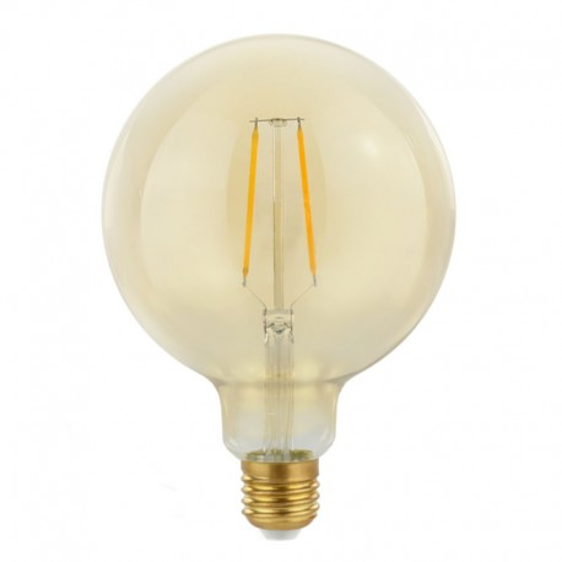 Decorative eco Gold Retro Shine LED light bulb 125mm 2W