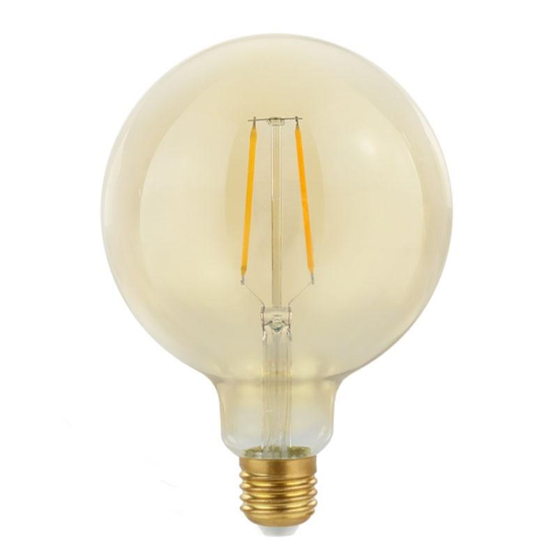 Żarówka dekoracyjna eco Gold Retro Shine LED 125mm 2W
