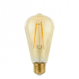Decorative eco Gold Retro Shine LED lamp light bulb ST64 64mm 2W