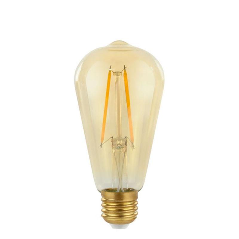 Decorative eco Gold Retro Shine LED lamp light bulb ST64 64mm 2W