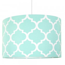 Mint Moroccan Clover Lampshade Ø40cm