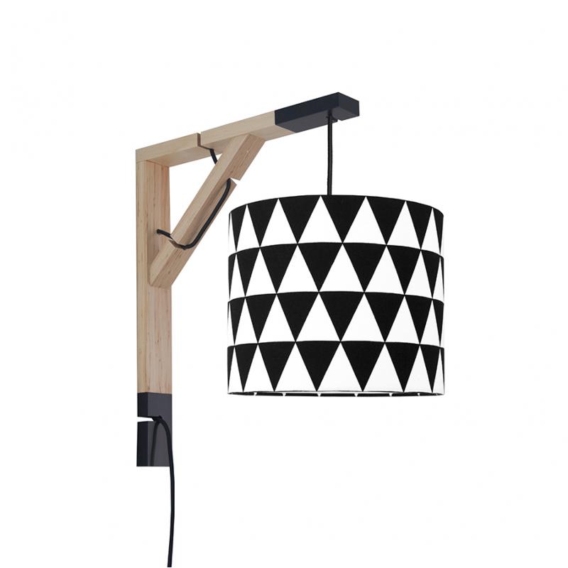 Lampa ścienna Simple Trójkąty czarne