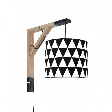 Wall lamp Simple Black Triangles