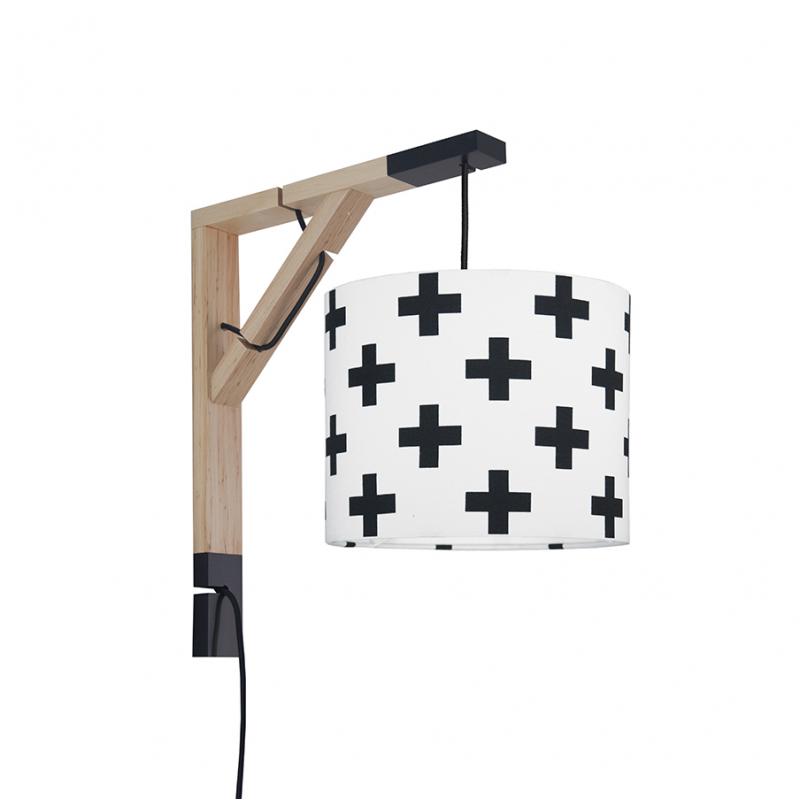 Lampa ścienna Simple Krzyżyki czarne