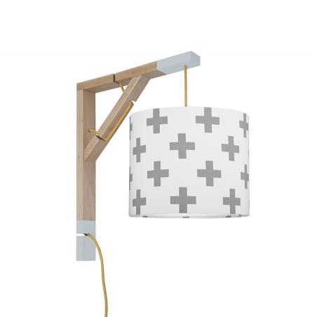 Lampa ścienna Simple Krzyżyki szare