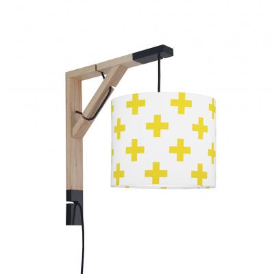 Lampa ścienna Simple Krzyżyki żółte
