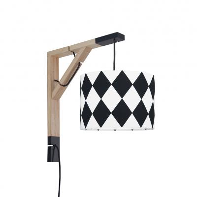 Lampa ścienna Simple Romby czarne