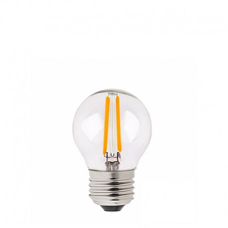 Festoon light bulb LED 45mm 2W transparent very warm light