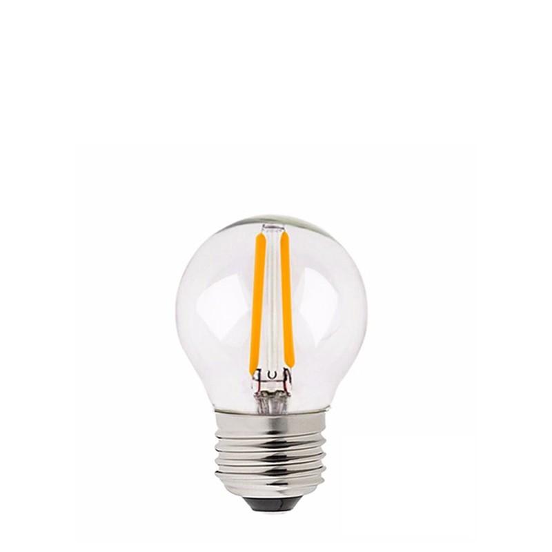 Żarówka do girland LED kulka 45mm 2W przezroczysta barwa bardzo ciepła