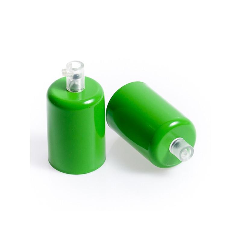 Oprawka metalowa E27 lakierowana w kolorze zielonym