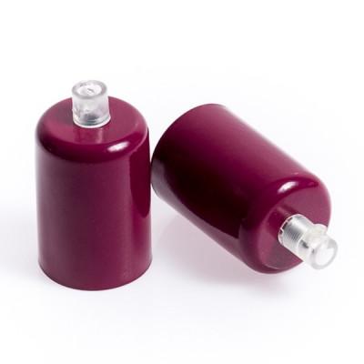 Oprawka metalowa E27 lakierowana w kolorze burgundowym
