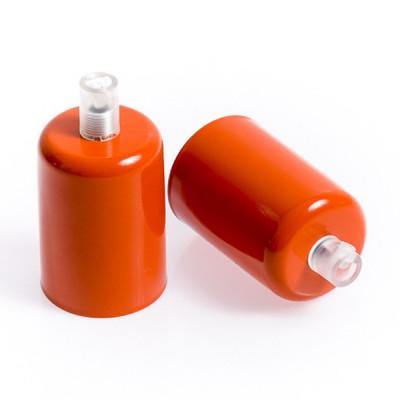 Oprawka metalowa E27 lakierowana w kolorze ciemnopomarańczowym