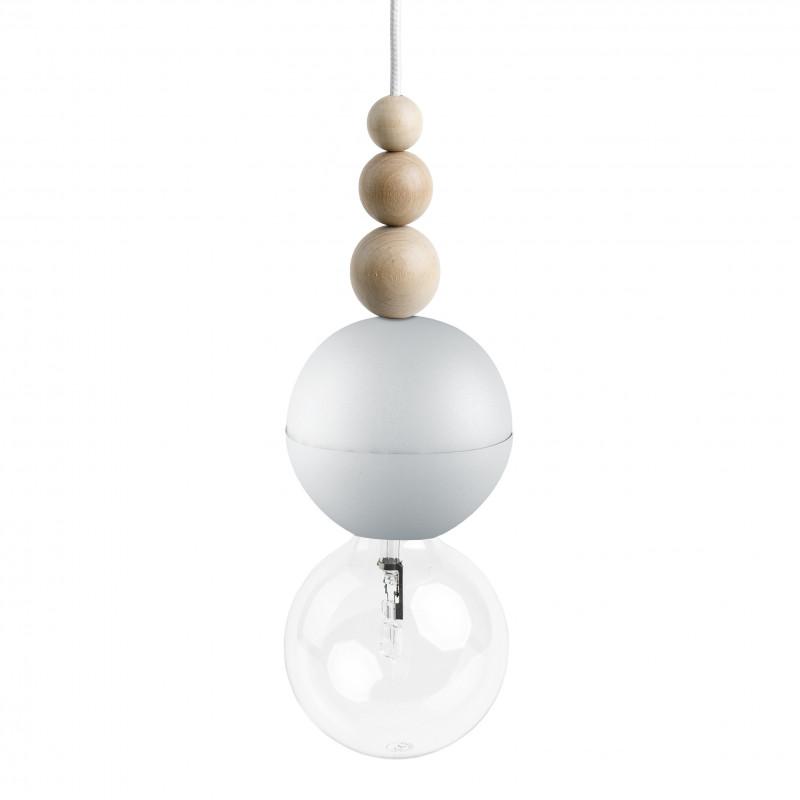 Loft Bala biała strukturalna lampa wisząca