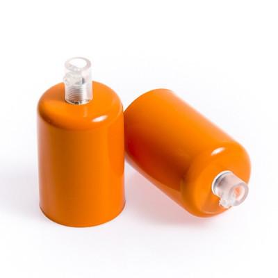 Metalowa osłonka sufitowa lakierowana w kolorze pomarańczowym