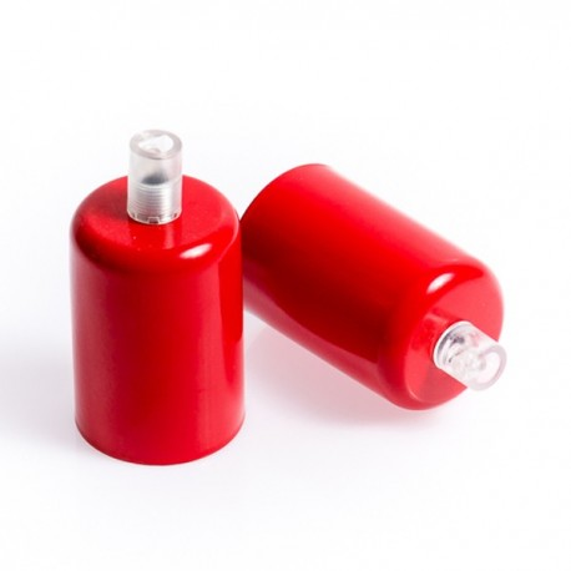 Metalowa osłonka sufitowa lakierowana w kolorze czerwonym