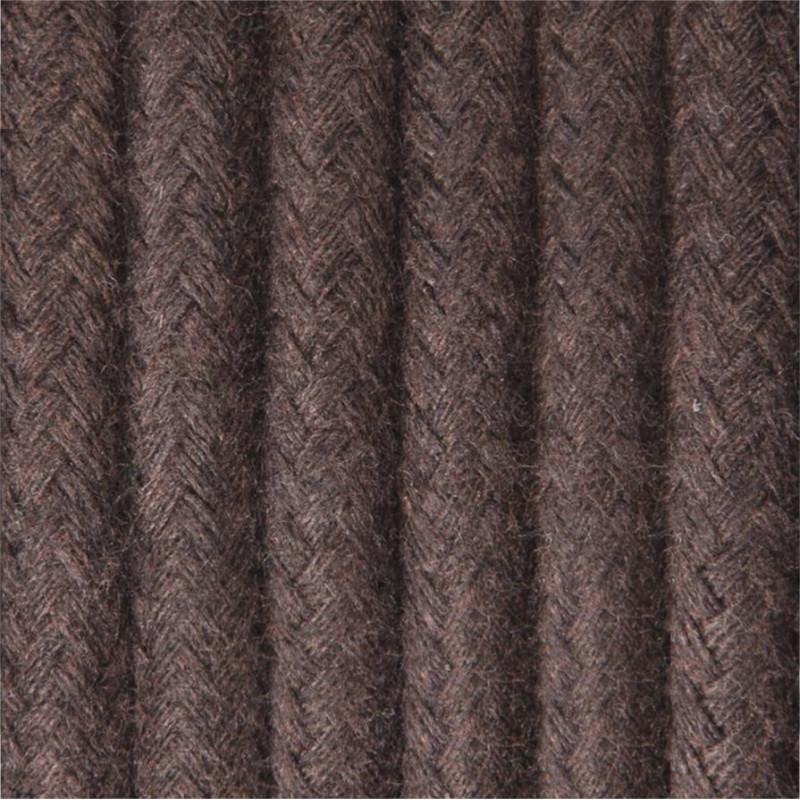 Kabel w oplocie bawełnianym B10 brunatna ziemia dwużyłowy 2x0.75