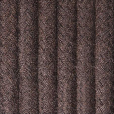 Brązowy kabel w oplocie bawełnianym B10 brunatna ziemia dwużyłowy 2x0.75 Kolorowe Kable