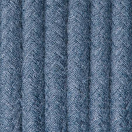 Ciemnoniebieski kabel w oplocie bawełnianym B11 szafirowe niebo dwużyłowy 2x0.75 Kolorowe Kable