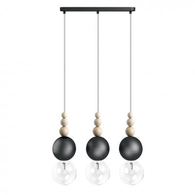 Loft Bala 3L czarna strukturalna lampa wisząca