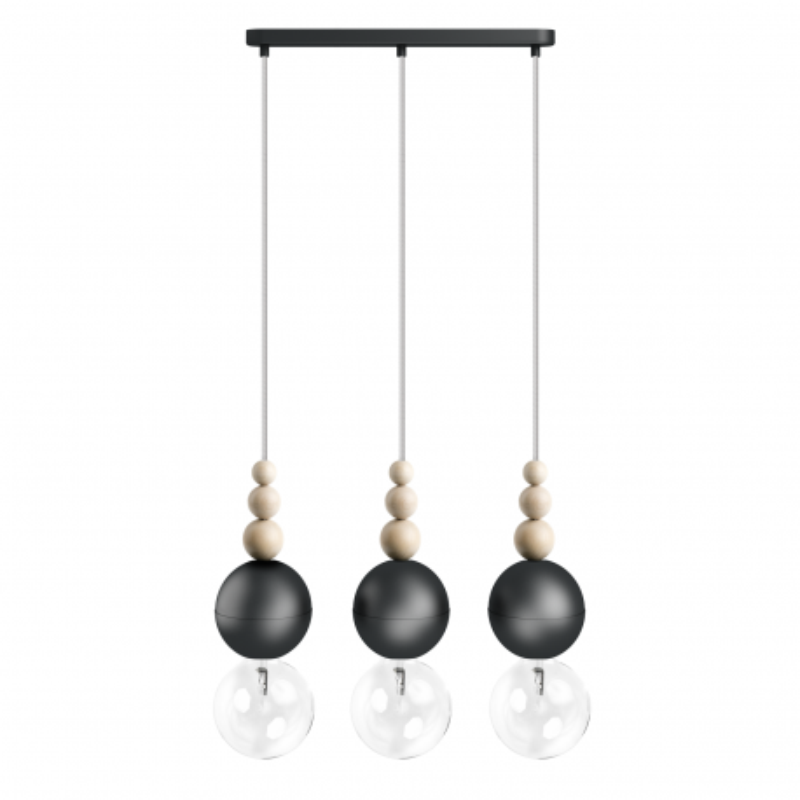 Loft Bala 3L black pedant lamp