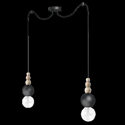 Loft Bala 2 czarna strukturalna lampa wisząca