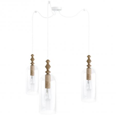 Loft Hulub 3 white pendant lamp Kolorowe Kable