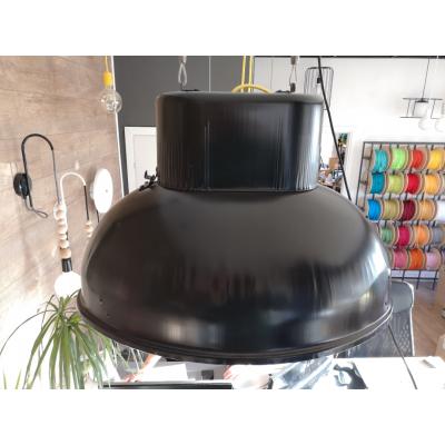 Duża fabryczna lampa wisząca ORP 2-1 czarna