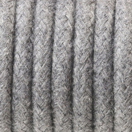 Round electric cable covered by cotton B02 gray ash 2x0.75