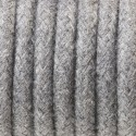 Round electric cable covered by cotton B12 gray ash 2x0.75