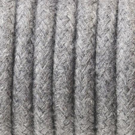 Szary kabel w oplocie bawełnianym B12 szary popiół dwużyłowy 2x0.75 Kolorowe Kable