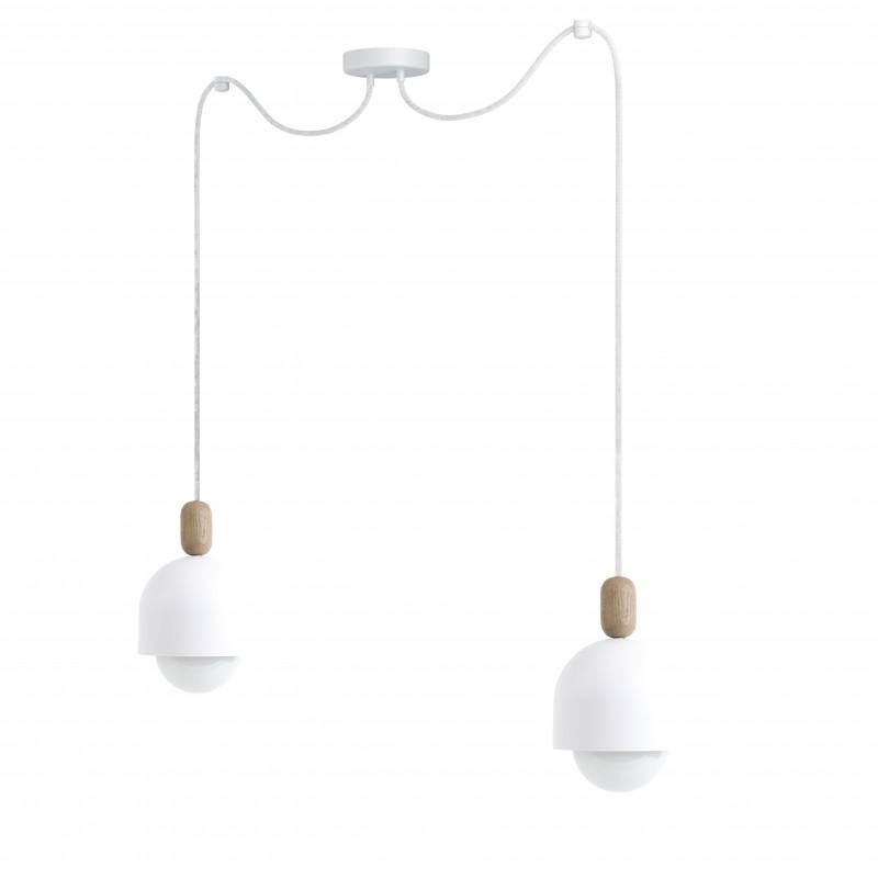 Loft Ovoi 2 biała strukturalna lampa wisząca