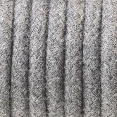 Kabel w oplocie bawełnianym B12 szary popiół dwużyłowy 2x0.75