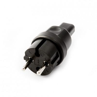 Plug for festoon garlands 230V 16A IP44 for flat cable