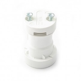 White bulb holder E27, festoon garland bulb holder