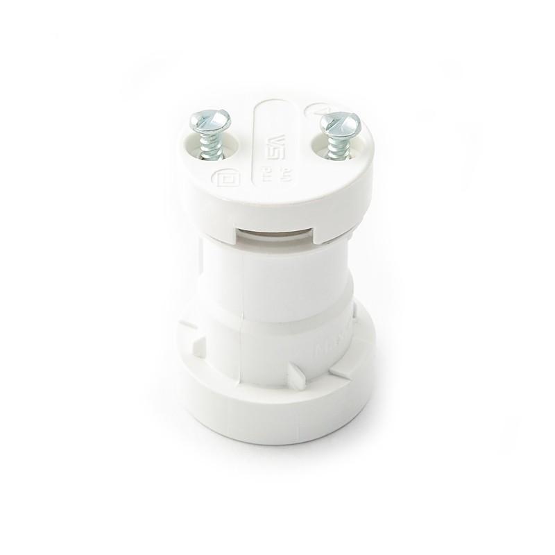 White bulb holder E27, festoon garland bulb holder