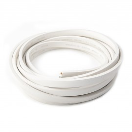 White lighting, two-core flat cable 2x1,5 mm2, 1mb cable for garlands