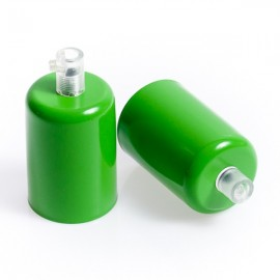 Metalowa osłonka sufitowa lakierowana w kolorze zielonym jaskrawym