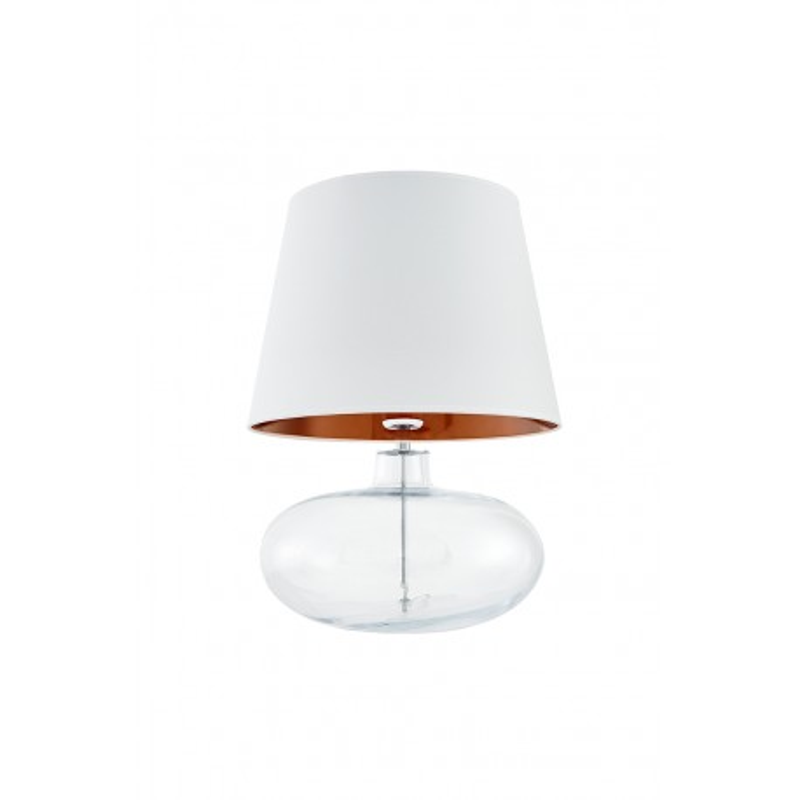 Sawa Standing Lamp Transparent Chrome White Copper Lampshade