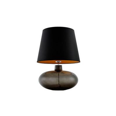 Sawa Standing Lamp Transparent / Chrome / Grey Lampshade