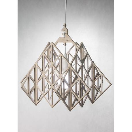 TAKAMALA HIMMELI light – wood eco pendant light, ceiling lamp of plywood
