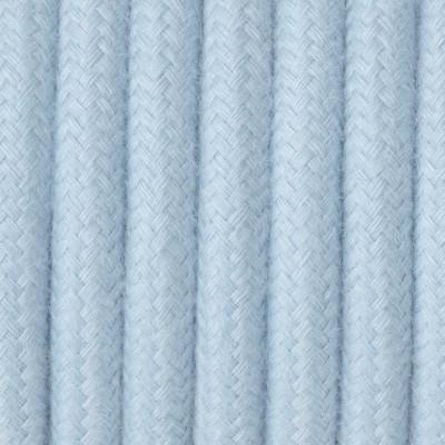 Kabel w oplocie bawełnianym B06 błękitny opal dwużyłowy 2x0.75