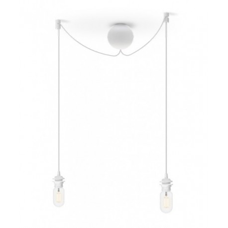 Double suspension for Cannonball Cluster 2 UMAGE lamps (VITA Copenhagen) - white