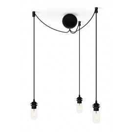 Triple suspension for Cannonball Cluster 3 UMAGE lamps (VITA Copenhagen) - black