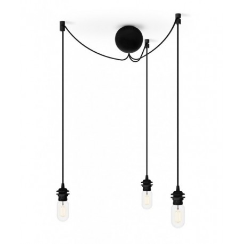 Triple suspension for Cannonball Cluster 3 UMAGE lamps (VITA Copenhagen) - black