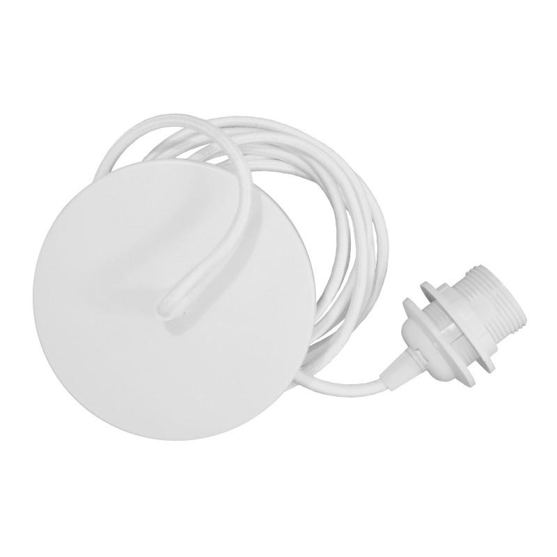 White pendant for lampshade Rosette UMAGE (VITA Copenhagen) - white cord