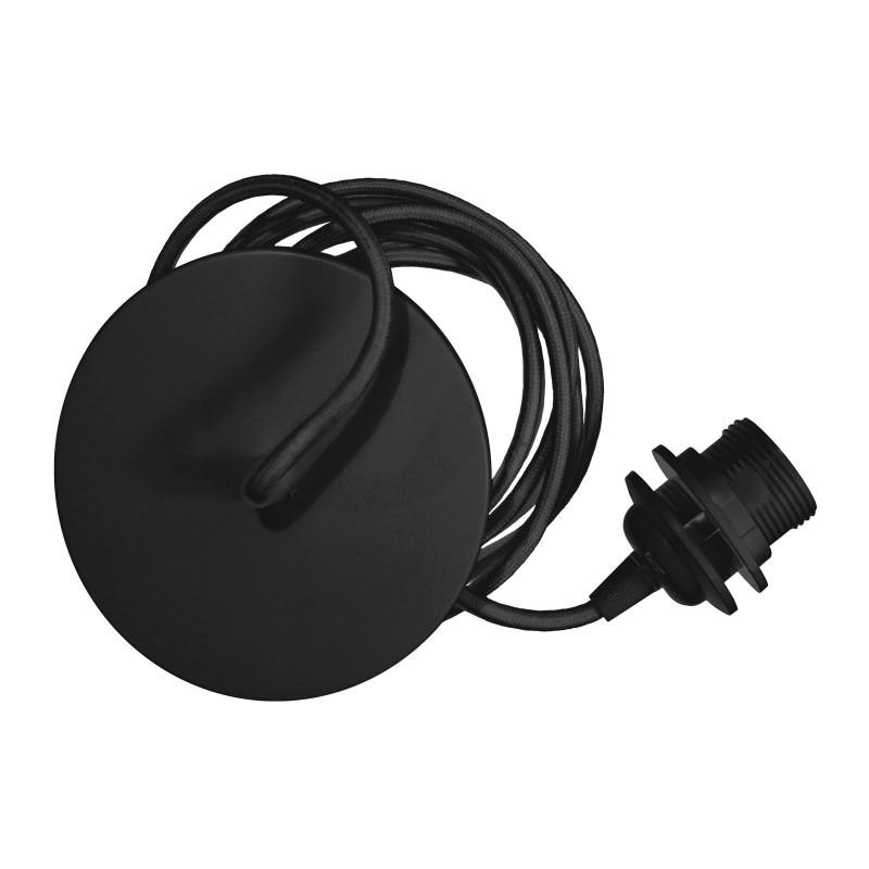 Black pendant for lampshade Rosette UMAGE (VITA Copenhagen) - black cord